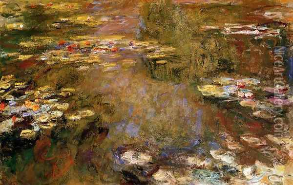 The Water-Lily Pond4 1917-1919 Oil Painting - Claude Oscar Monet