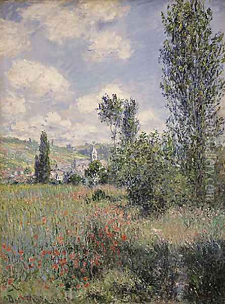 View of Veheuil 1880 Oil Painting - Claude Oscar Monet