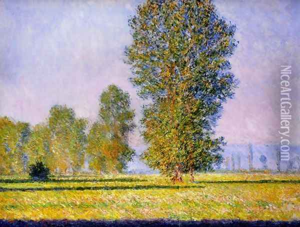 Landscape with Figures Giverny 1888 Oil Painting - Claude Oscar Monet