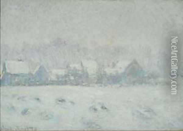 Snow at Giverny Oil Painting - Claude Oscar Monet