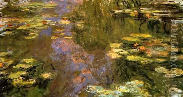 The Water-Lily Pond1 1917-1919 Oil Painting - Claude Oscar Monet