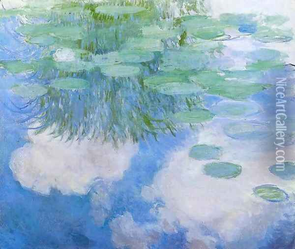 Water-Lilies6 1914 Oil Painting - Claude Oscar Monet