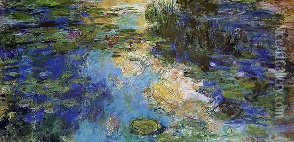 The Water-Lily Pond 1917-1919 Oil Painting - Claude Oscar Monet