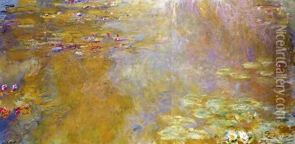 The Water-Lily Pond6 1917-1919 Oil Painting - Claude Oscar Monet