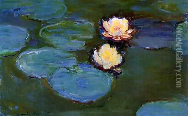 Water-Lilies1 1897-1899 Oil Painting - Claude Oscar Monet