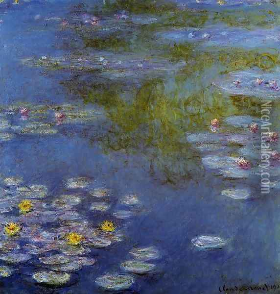 Water-Lilies9 1908 Oil Painting - Claude Oscar Monet