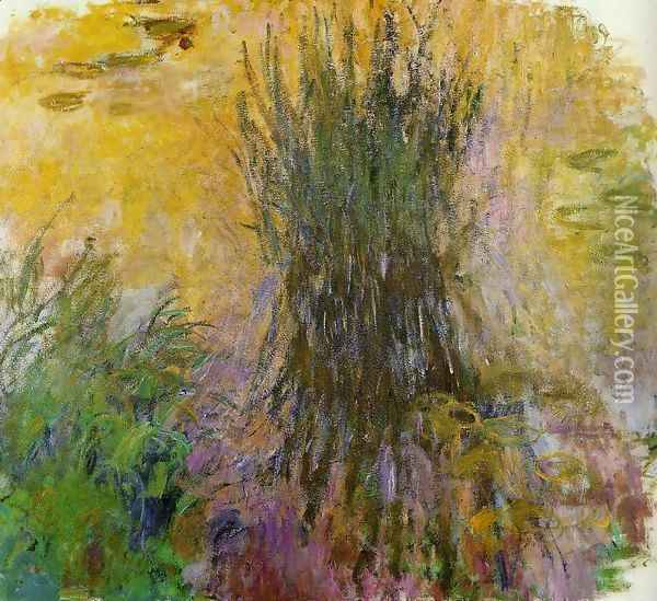 Water-Lilies9 1914-1917 Oil Painting - Claude Oscar Monet