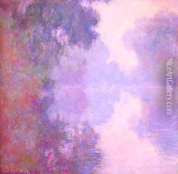 Misty morning on the seine 1892 Oil Painting - Claude Oscar Monet