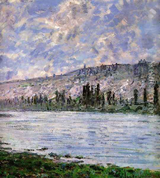 The Seine at Vetheuil (detail) 1880 Oil Painting - Claude Oscar Monet