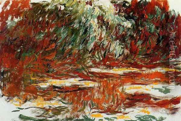 The Water-Lily Pond2 1918-1919 Oil Painting - Claude Oscar Monet