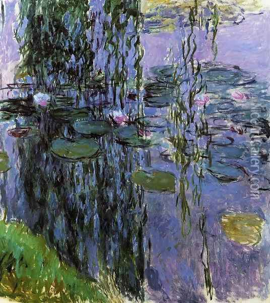 Water-Lilies1 1916-1919 Oil Painting - Claude Oscar Monet