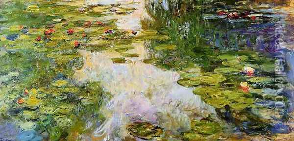 Water-Lilies1 1917-1919 Oil Painting - Claude Oscar Monet