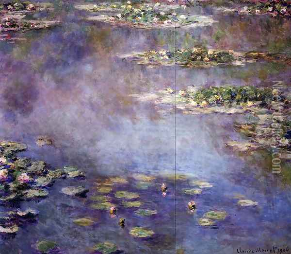 Water-Lilies2 1906 Oil Painting - Claude Oscar Monet