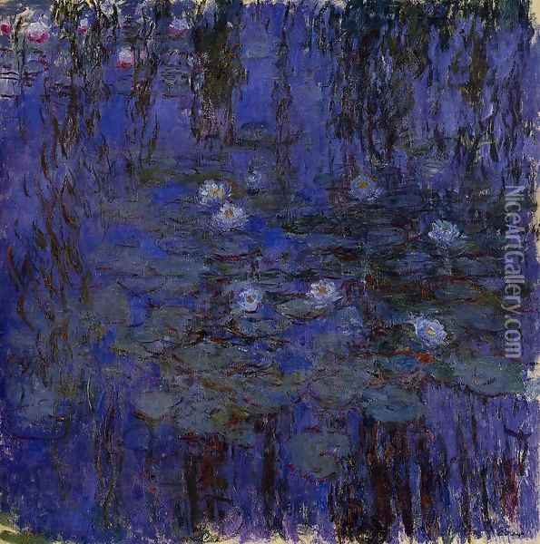 Water-Lilies2 1916-1919 Oil Painting - Claude Oscar Monet