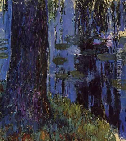 Weeping Willow and Water-Lily Pond1 1916-1919 Oil Painting - Claude Oscar Monet