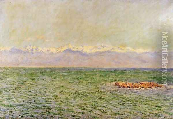 The Meditarranean at Antibes2 1888 Oil Painting - Claude Oscar Monet