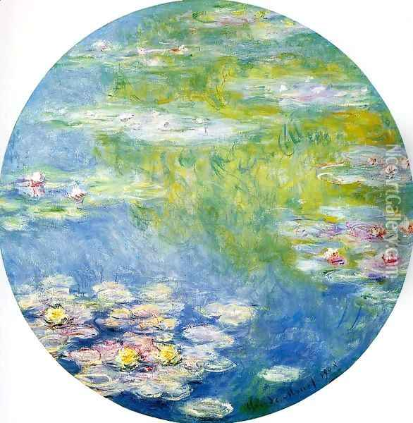 Water-Lilies8 1908 Oil Painting - Claude Oscar Monet