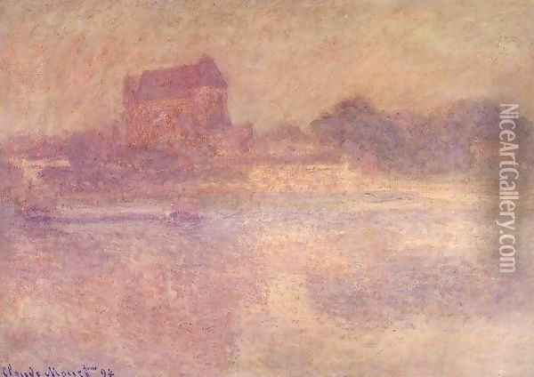 Vernon Church in the Fog 1894 Oil Painting - Claude Oscar Monet