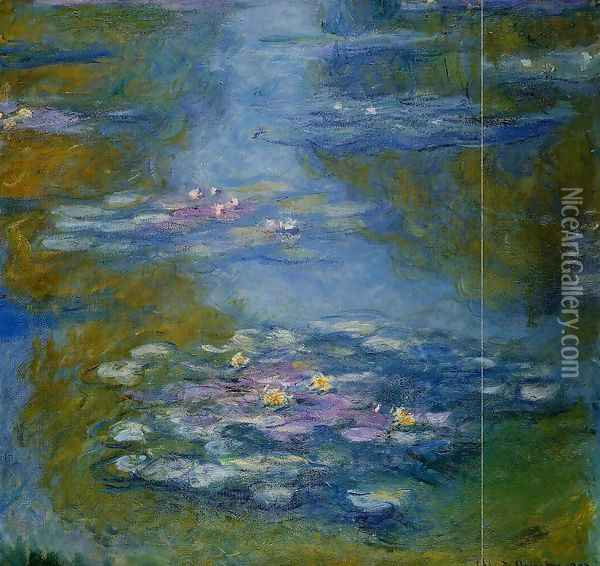 Water-Lilies2 1908 Oil Painting - Claude Oscar Monet
