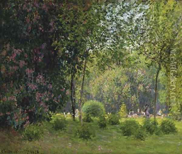Le parc Monceau Oil Painting - Claude Oscar Monet