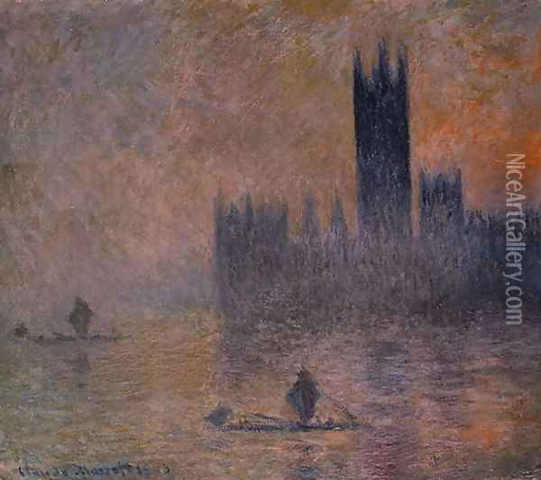 The Houses of Parliament (Effect of Fog) 1903 Oil Painting - Claude Oscar Monet