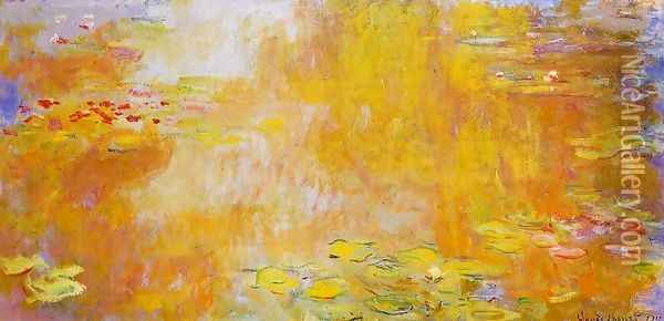 The Water-Lily Pond3 1917-1919 Oil Painting - Claude Oscar Monet