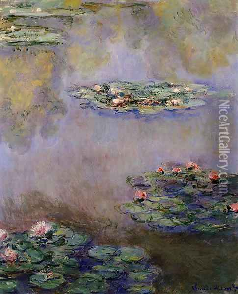 Water-Lilies11 1908 Oil Painting - Claude Oscar Monet
