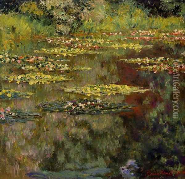 Water-Lilies4 1904 Oil Painting - Claude Oscar Monet