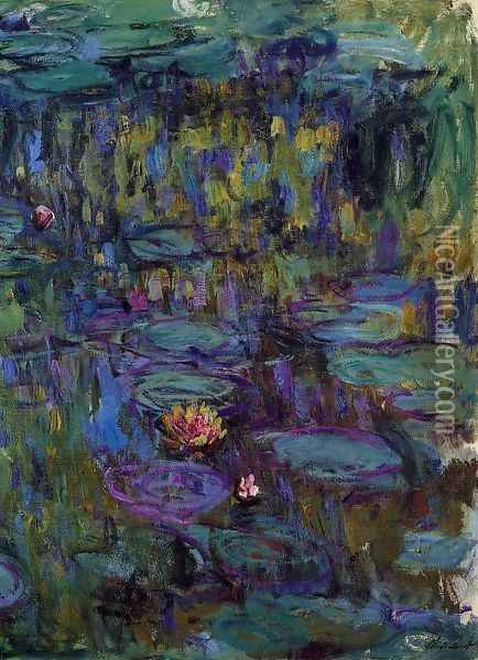 Water-Lilies8 1914-1917 Oil Painting - Claude Oscar Monet
