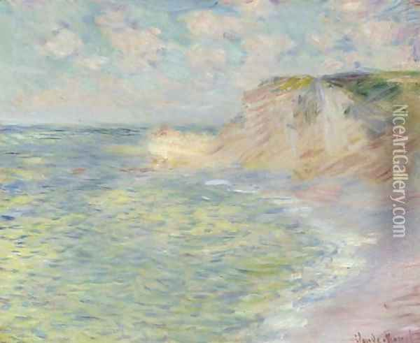 La falaise d'Amont Oil Painting - Claude Oscar Monet