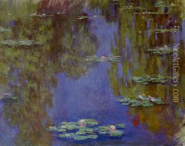 Water-Lilies2 1903 Oil Painting - Claude Oscar Monet
