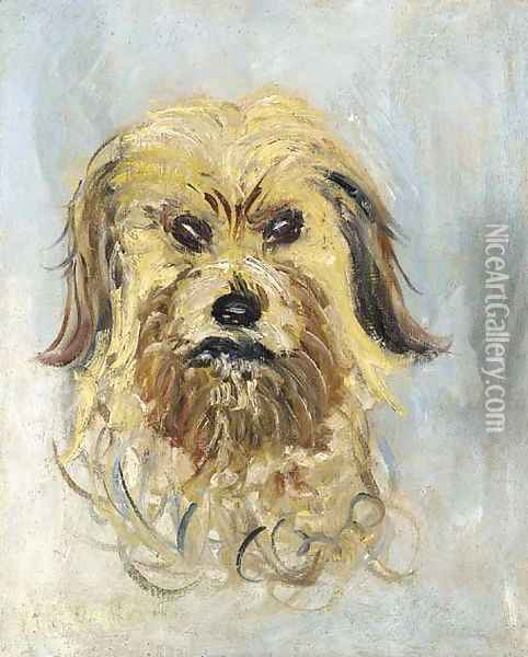 Tete de chien griffon, Follette Oil Painting - Claude Oscar Monet