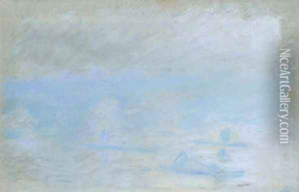 Waterloo Bridge, brouillard Oil Painting - Claude Oscar Monet