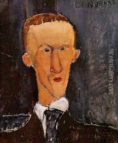 Portrait of Blaise Cendrars Oil Painting - Amedeo Modigliani