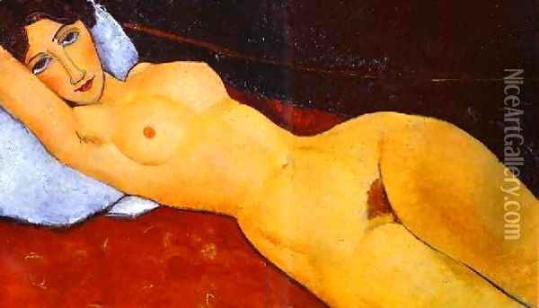 Reclining Nude Oil Painting - Amedeo Modigliani