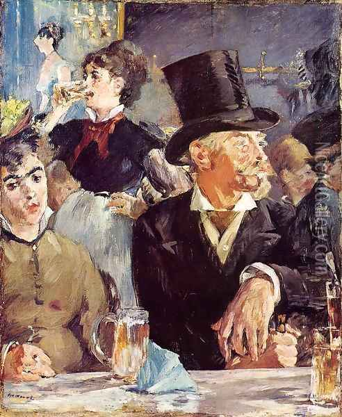 Cafe-Concert Oil Painting - Edouard Manet