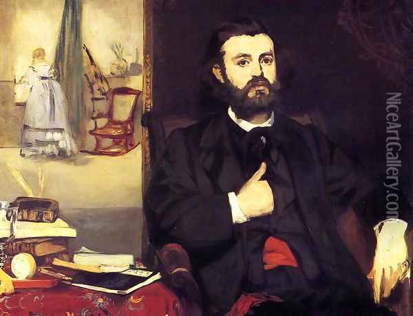 Portrait of Zacharie Astruc Oil Painting - Edouard Manet
