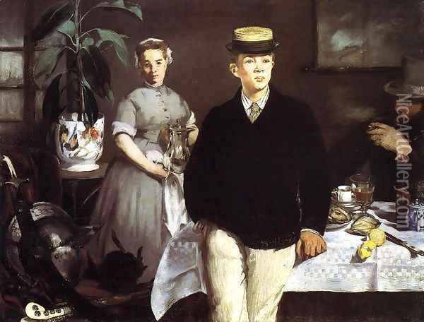 The Lucheon Oil Painting - Edouard Manet