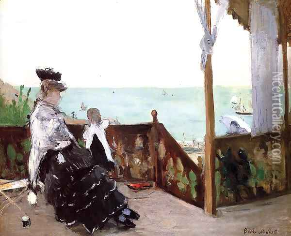 In a Villa at the Seaside 1874 Oil Painting - Berthe Morisot