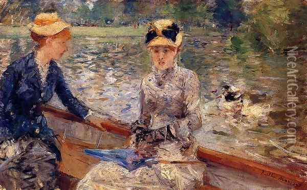 A Summer`s Day 1879 Oil Painting - Berthe Morisot