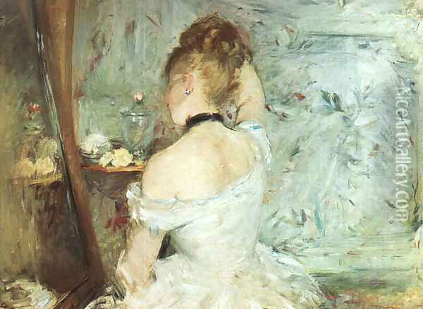A Woman at her Toilette Oil Painting - Berthe Morisot
