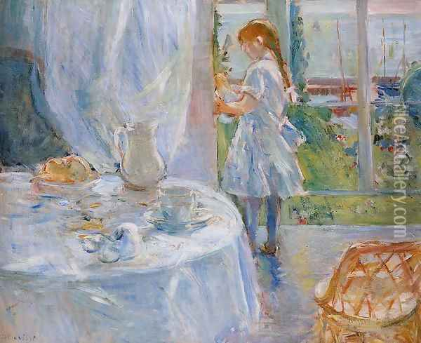 Cottage Interior Aka Interior At Jersey Oil Painting - Berthe Morisot