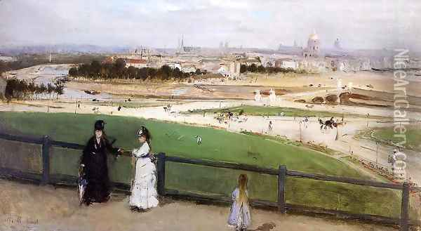 View of Paris from the Trocadero 1872 Oil Painting - Berthe Morisot