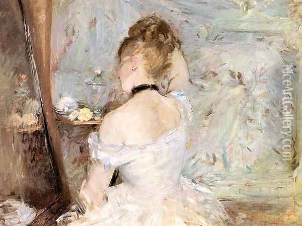 Lady at her Toilet 1875 Oil Painting - Berthe Morisot