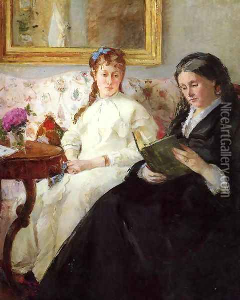 Mother And Sister Of The Artist Oil Painting - Berthe Morisot