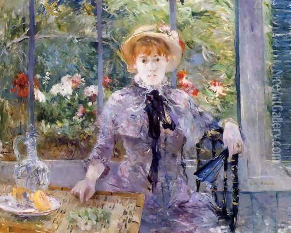 After Luncheon Oil Painting - Berthe Morisot