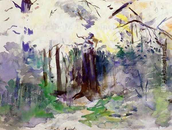 Autumn In The Bois De Boulogne Oil Painting - Berthe Morisot