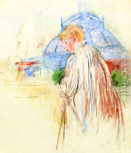 At The Exposition Palace Oil Painting - Berthe Morisot