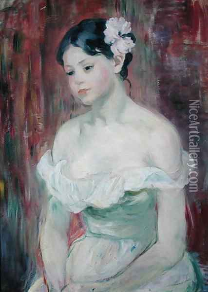 A Young Girl 1893 Oil Painting - Berthe Morisot