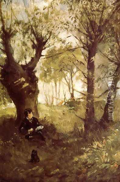 Old Path at Auvers 1863 Oil Painting - Berthe Morisot